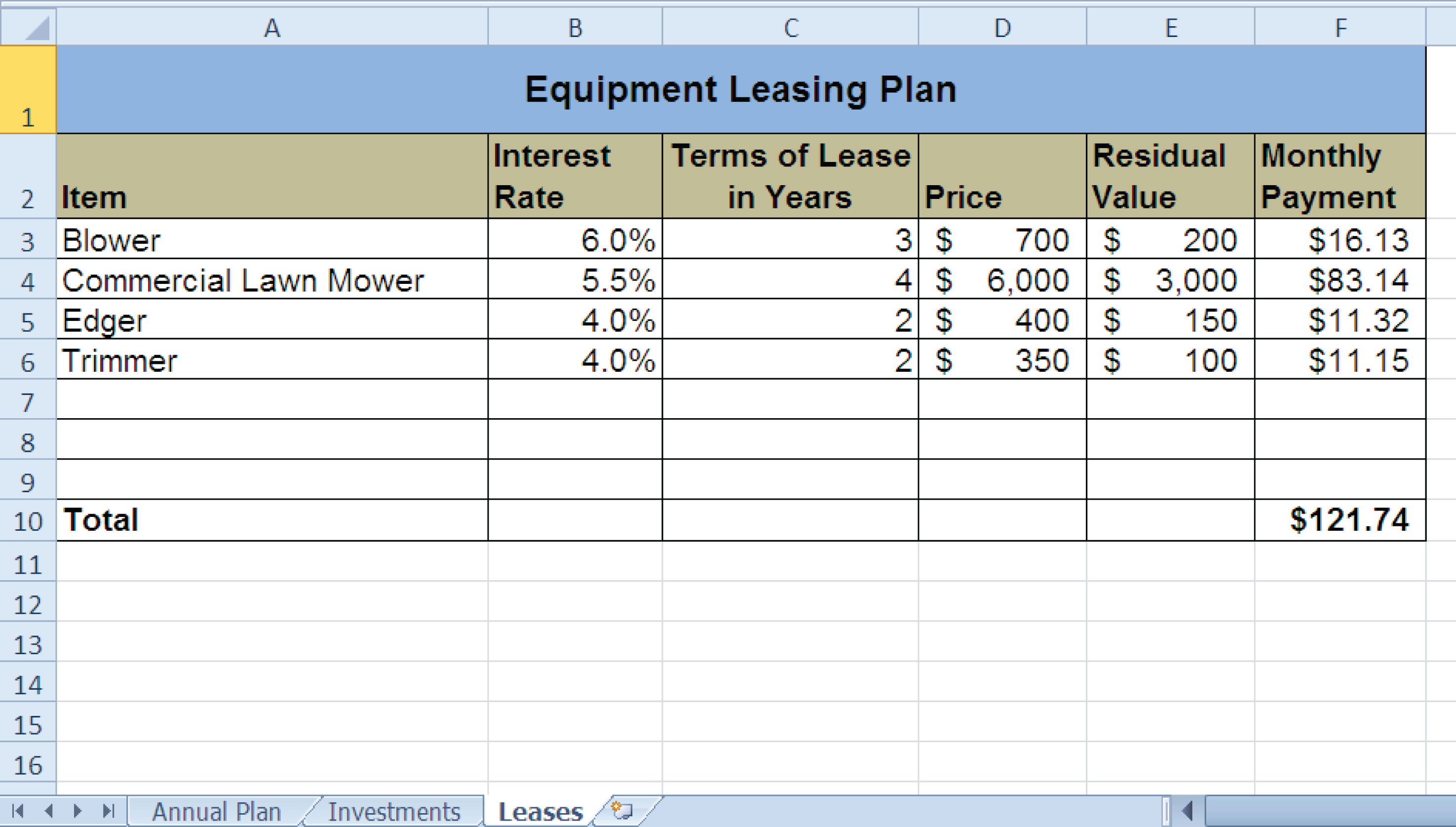 lease vs buy calculator excel