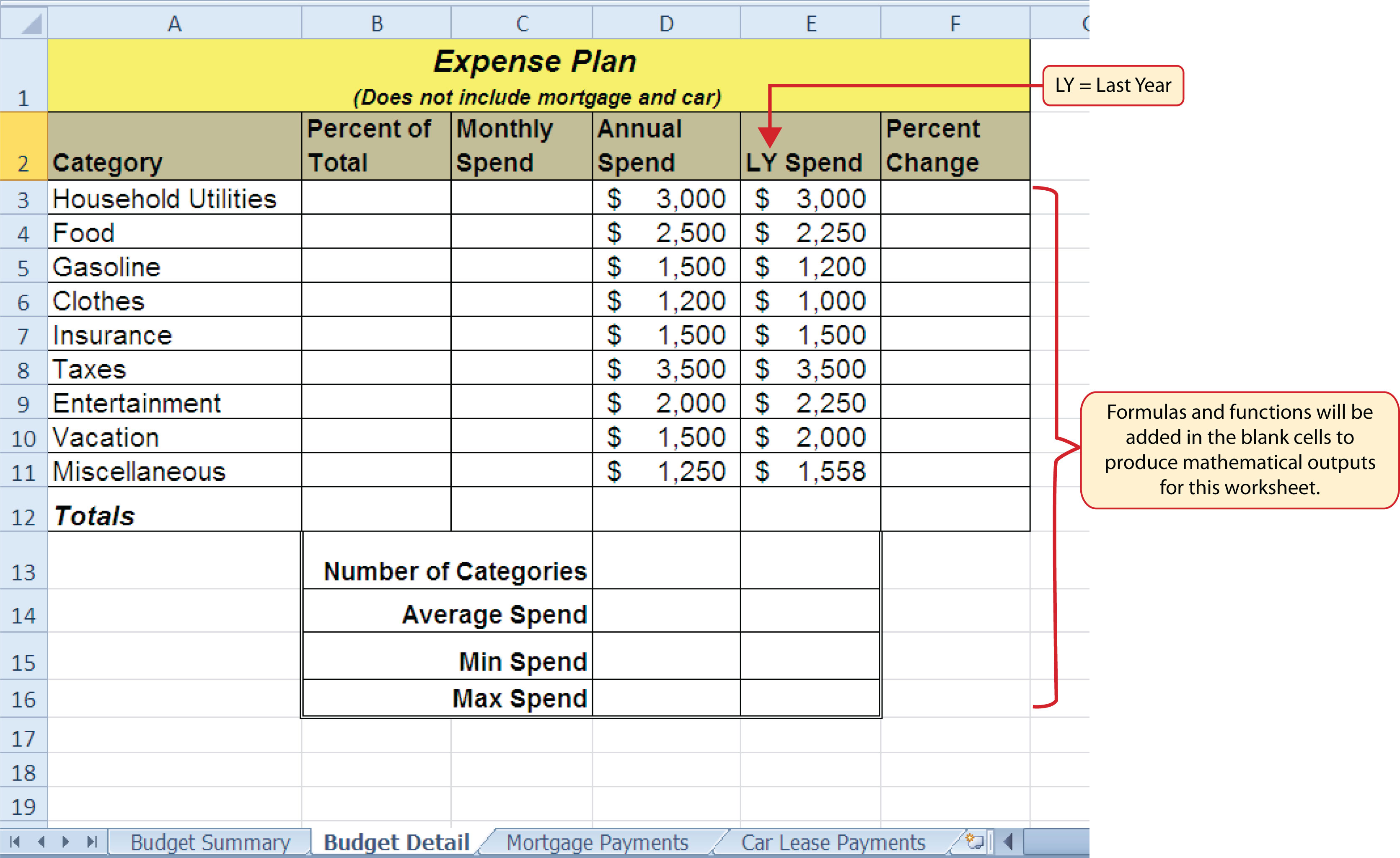 budgeting worksheets for college students