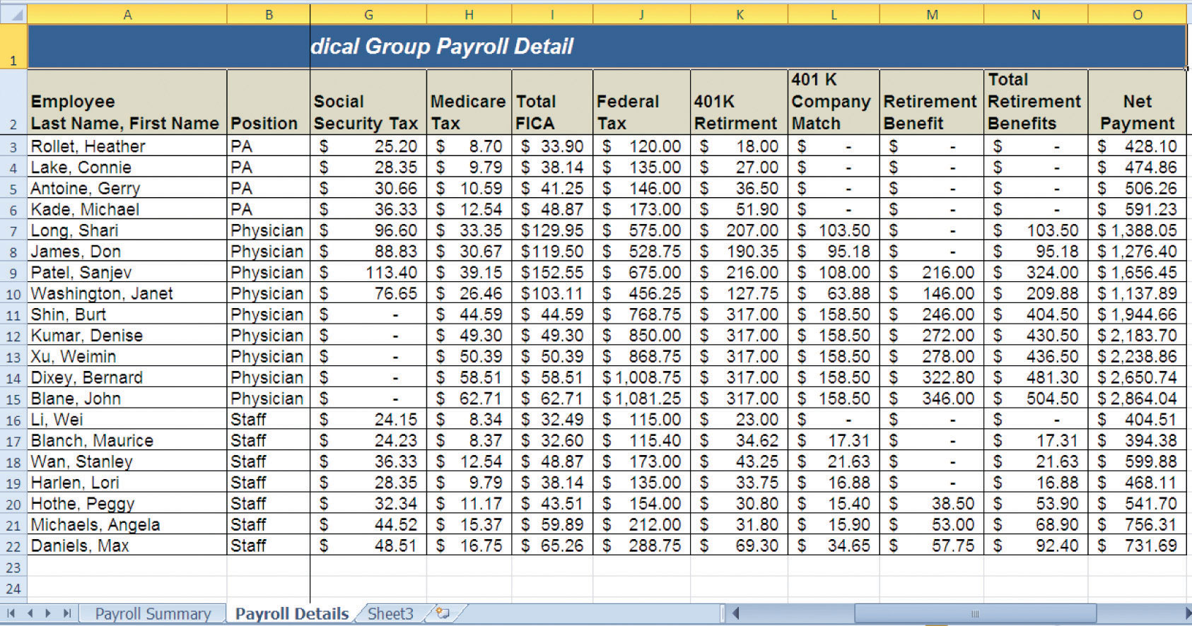 Payroll Worksheet Free Worksheets Library | Download and Print ...