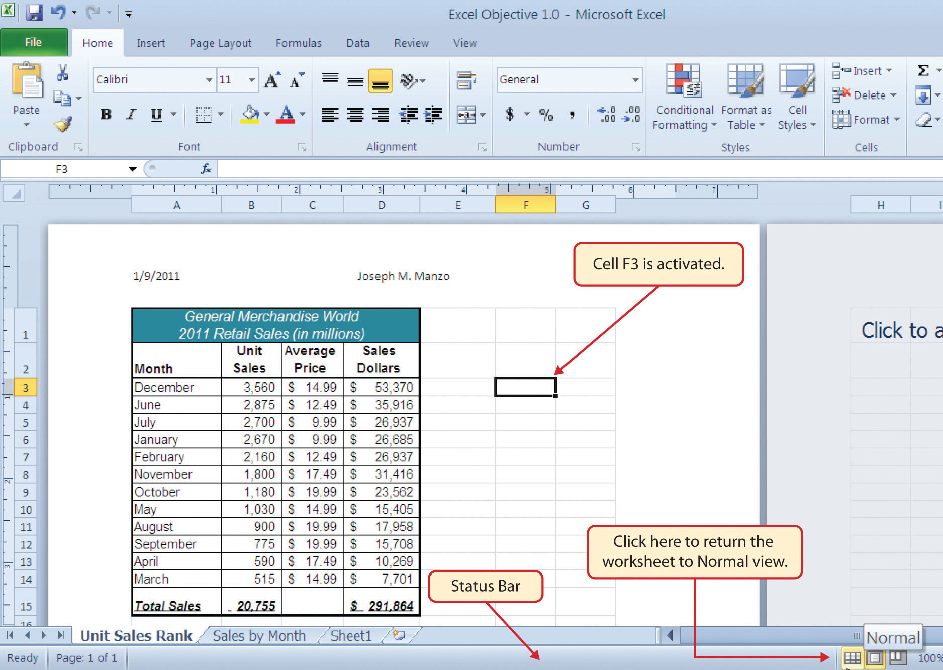 Excel 2010 Worksheet : Add footer to current worksheet excel how a