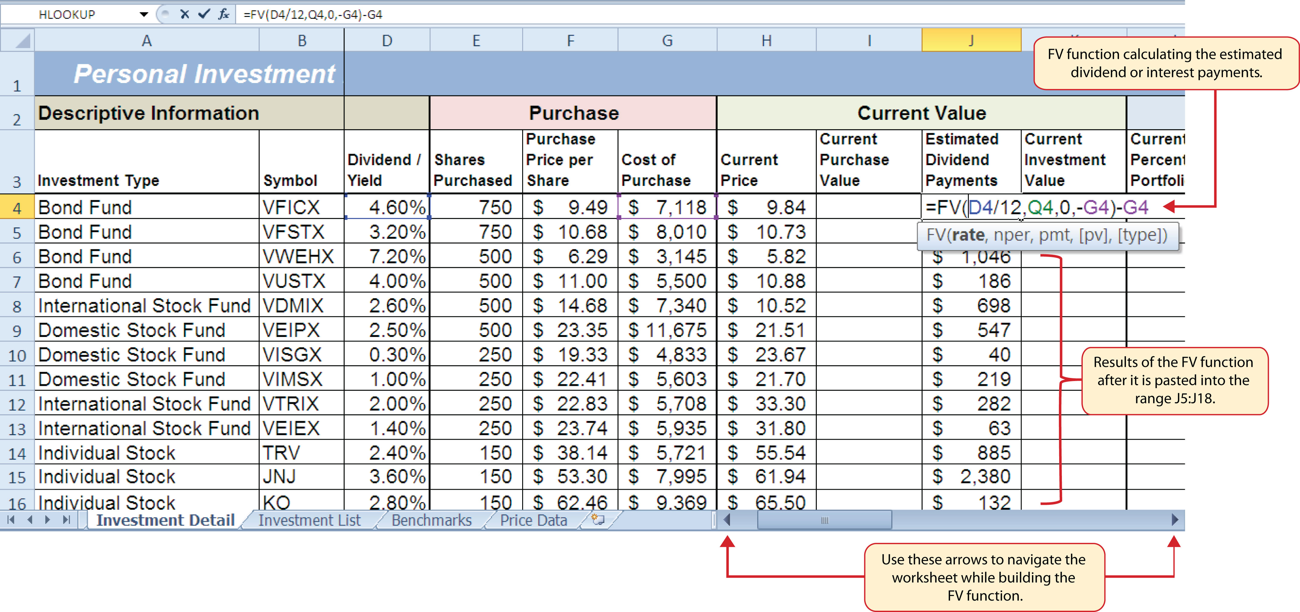 how to add unmoving section in excel