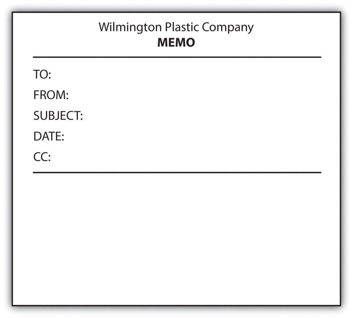 composing memos figure 12 1 example of a blank memo form